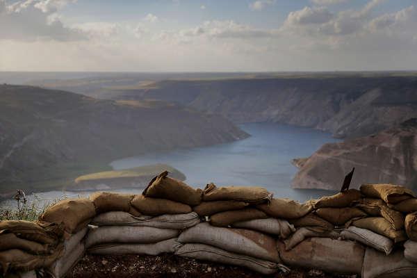 Här flyr de kriget i Syrien bilder