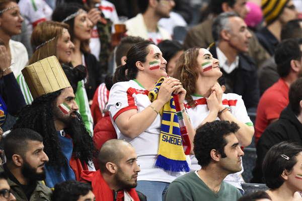 Fotboll · Sverige - Iran, träningsmatch bilder