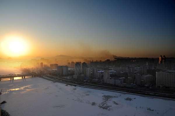 Vinter i Nordkorea bilder
