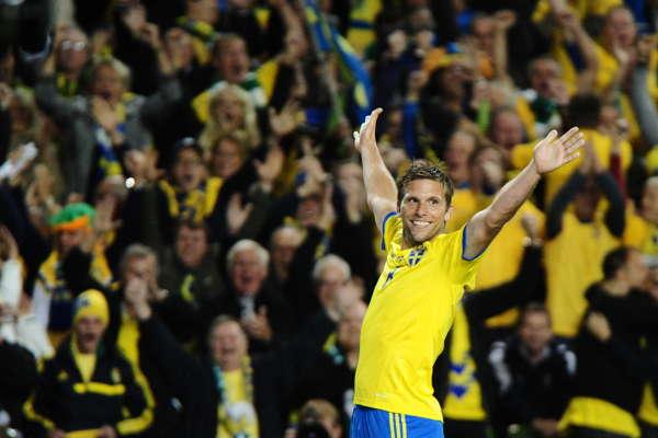 Sverige-Irland match bilder