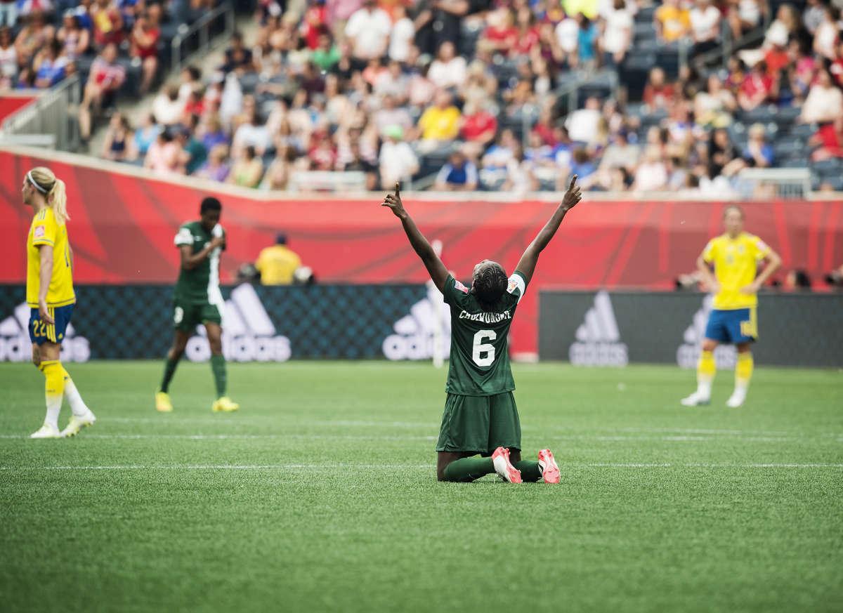 Fotbolls VM, Sverige - Nigeria bilder