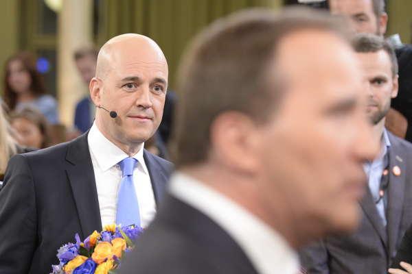 Fredrik Reinfeldt och Stefan Löfven,  slutduell i TV4 bilder