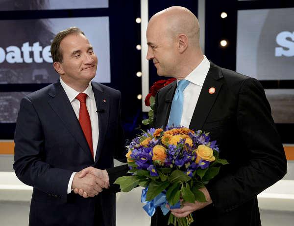 SVT:s slutdebatt med samtliga partiledare bilder