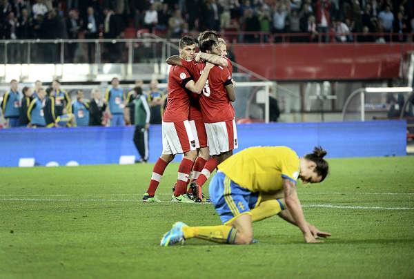Österrike-Sverige 2-1 VM-kval bilder